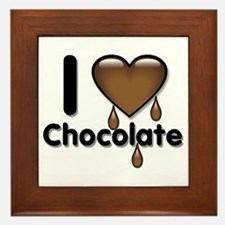 I Love Heart Chocolate Lover Framed Tile
