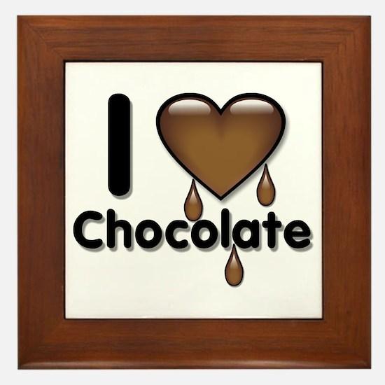 I Love Heart Chocolate Lover Framed Tile