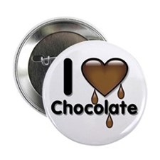 """I Love Heart Chocolate Lover 2.25"""" Button (100 pac"""