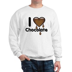 I Love Heart Chocolate Lover Sweatshirt