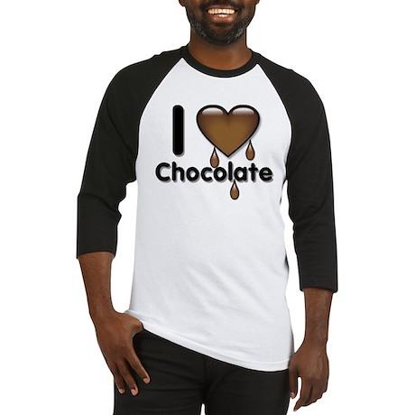 I Love Heart Chocolate Lover Baseball Jersey
