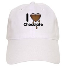 I Love Heart Chocolate Lover Baseball Cap