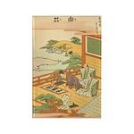 Japanese illustration Rectangle Magnet
