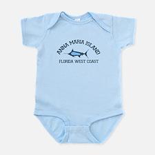 Anna Maria Island - Fishing Design. Infant Bodysui