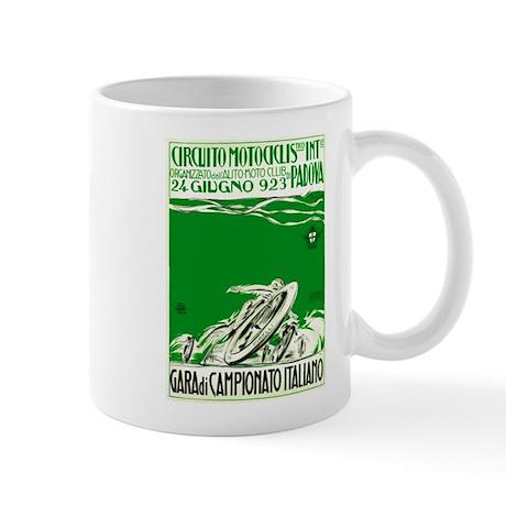 1923 Italian Motorcycle Race Poster Green Mug