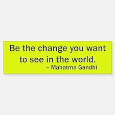 Mahatma Gandhi Quote Bumper Bumper Bumper Sticker
