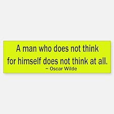 Oscar Wilde Quote Bumper Car Car Sticker
