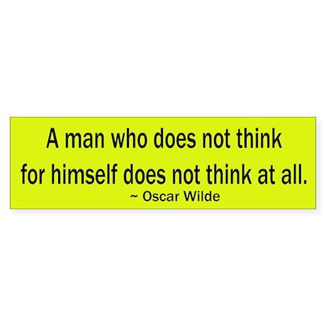 Oscar Wilde Quote Bumper Sticker