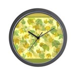 vineyard leaves tapestry square Wall Clock