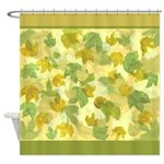 vineyard leaves tapestry square Shower Curtain