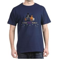 Nothin' Butt Poodles Navy T-Shirt
