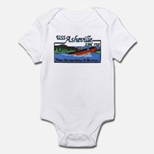 USS Asheville SSN 758 Infant Bodysuit