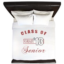 Class Of 2013 (Distressed, Red) King Duvet