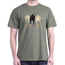 Nothin' Butt Pugs Green T-Shirt