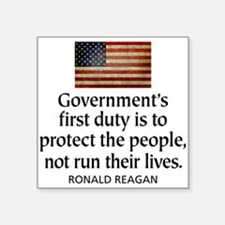 REAGAN: Government's first duty... QUOTE Sticker