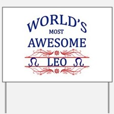 World's Most Awesome Leo Yard Sign