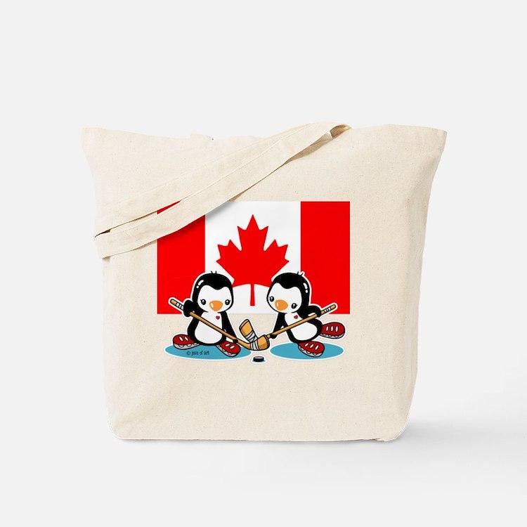 Ice Hockey Tote Bag