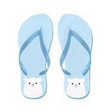 Peekaboo Polar Bear Flip Flops
