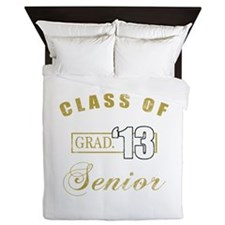 Class Of 2013 (Distressed, Gold) Queen Duvet