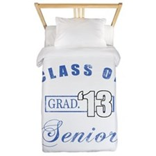 Class Of 2013 (Distressed, Blue) Twin Duvet