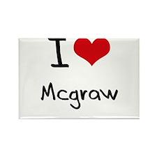 I Love Mcgraw Rectangle Magnet