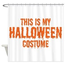 This is my Halloween Costume Shower Curtain