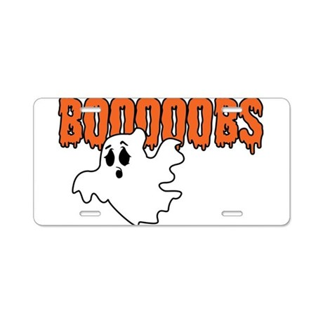 Boooobs Aluminum License Plate