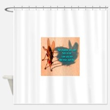 Not Man But Fly Shower Curtain
