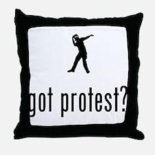 Protester Throw Pillow