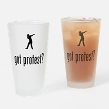 Protester Drinking Glass