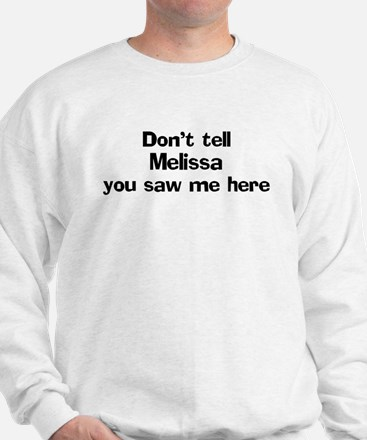 Don't tell Melissa Jumper