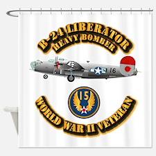 AAC - B-24 - 15 AF Shower Curtain