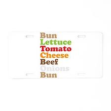 Cheeseburger Aluminum License Plate