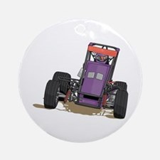 Drag Racing Car Ornament (Round)
