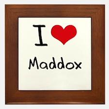 I Love Maddox Framed Tile