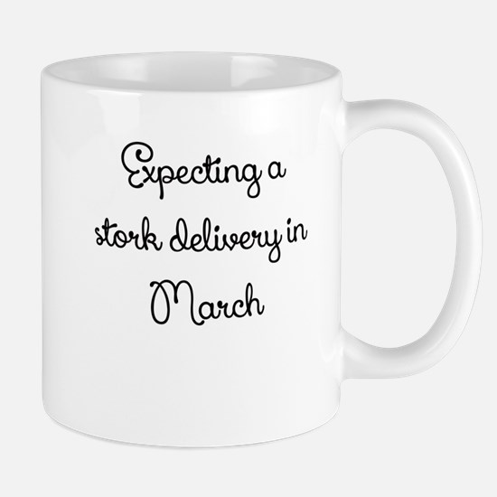 Expecting a stork delivery in March Mug
