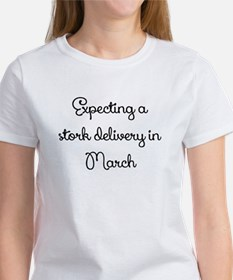 Expecting a stork delivery in March T-Shirt