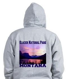 Glacier National Park Zip Hoody