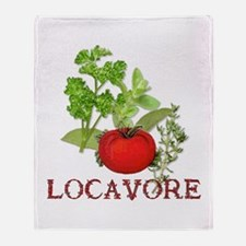 Be A Locavore Throw Blanket