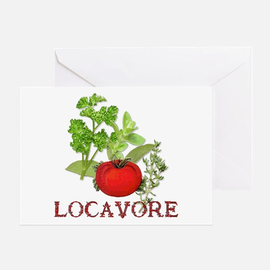Be A Locavore Greeting Card