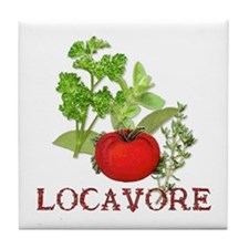 Be A Locavore Tile Coaster