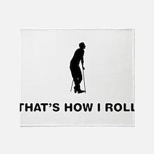 On Crutches Throw Blanket