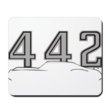 Cutlass Silhouette - 442 logo up Mousepad