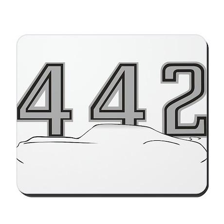 Cutlass Silhouette - 442 logo up Mousepad