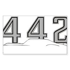 Cutlass Silhouette - 442 logo up Decal
