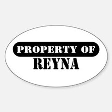 Property of Reva Oval Decal
