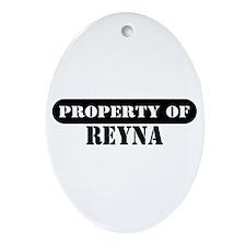 Property of Reva Oval Ornament