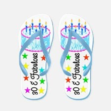 FABULOUS 30TH Flip Flops
