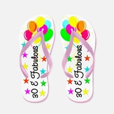 SIZZLING 30TH Flip Flops