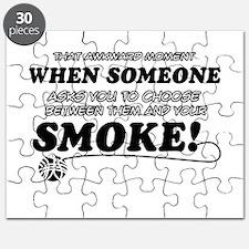 Unique Smoke designs Puzzle
